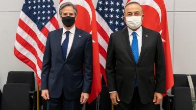 Blinken: Εξέφρασα τη στήριξη για τις διερευνητικές με Ελλάδα - Cavusoglu: Συζήτηση και για Κύπρο, Ανατ. Μεσόγειο
