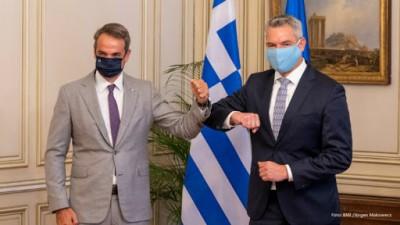 Αυστριακός Τύπος: Ο Nehammer προσέφερε στην Ελλάδα υποστήριξη στην προστασία των συνόρων