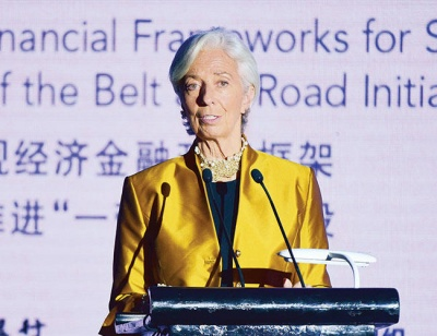 Lagarde για το Δρόμο του Μεταξιού: Να εφαρμοστεί προσεκτικά σε κράτη που μπορούν να διαχειριστούν το χρέος τους