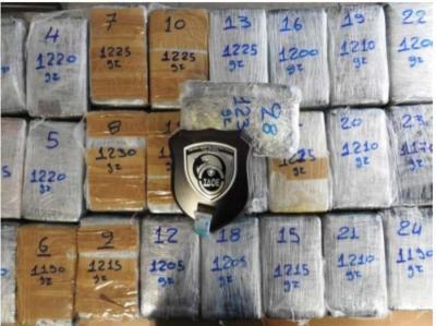ΣΔΟΕ - Κατασχέθηκαν 34 κιλά κοκαΐνης στον Πειραιά