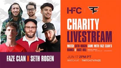 FaZe Clan: Οργανώνει στο Twitch με τον Seth Rogen stream φιλανθρωπικού χαρακτήρα για το Alzheimer
