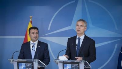 Ικανοποίηση στα Σκόπια για την υπογραφή του πρωτοκόλλου ένταξης στο ΝΑΤΟ (6/2)