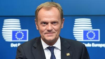 ΕΕ: Συγκρατημένα αισιόδοξος ο Tusk για την κάλυψη των κορυφαίων θέσεων κατά τη Σύνοδο Κορυφής (20-21/6)