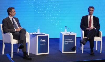 H συζήτηση του Κυριάκου Μητσοτάκη με τον Αlbert Burla και τον Δημήτρη Παπαλεξόπουλο σε εκδήλωση του ΣΕΒ