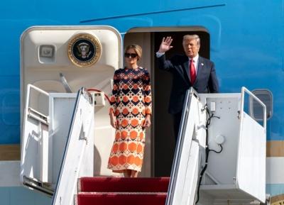 ΗΠΑ: Πλήθος πολιτών υποδέχτηκε τον Donald Trump στο Παλμ Μπιτς