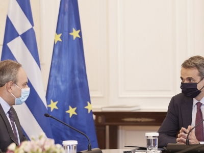 Συνάντηση Μητσοτάκη με τον γ.γ.ΑΚΕΛ Στέφανο Στεφάνου – Στο επίκεντρο οι τουρκικές προκλήσεις στην Κύπρο