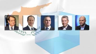 Κύπρος: Μάχη Αναστασιάδη (35%) - Μαλά (30,25%) στον β΄γύρο στις 4/2 - Ρυθμιστής ο Παπαδόπουλος