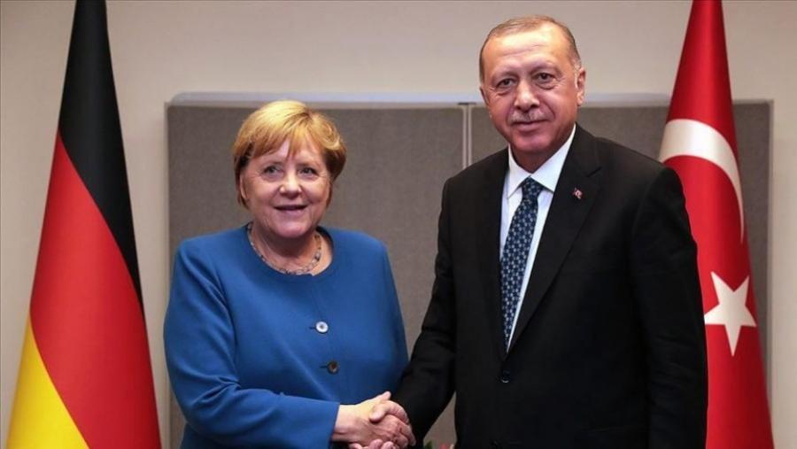 H... κεκλεισμένων των θυρών συνάντηση Erdogan με Merkel - Φιλικό κλίμα και χαμόγελα