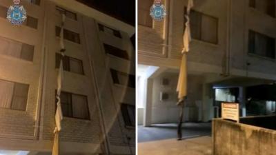 Απίστευτο περιστατικό: «Δραπέτευσε» από ξενοδοχείο καραντίνας... με σκοινί από σεντόνια