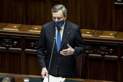 Draghi (Ιταλία): Οι πόροι του Ταμείου Ανάκαμψης θα διατηρήσουν σε βιώσιμα επίπεδα το χρέος