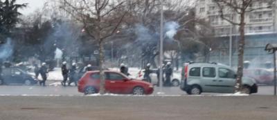 Ένταση στη Θεσσαλονίκη στη διαδήλωση για το lockdown
