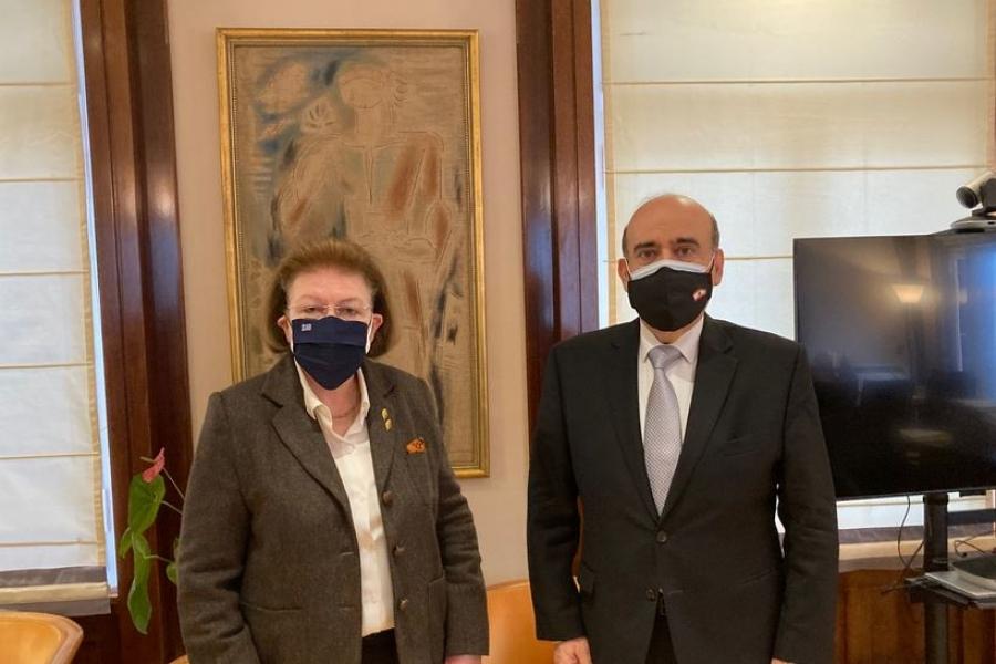 Συνάντηση Μενδώνη με τον ΥΠΕΞ του Λιβάνου – Στο επίκεντρο η  πολιτιστική συνεργασία των δύο χωρών