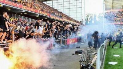 Λανς: Χωρίς οπαδούς της στις εξέδρες για τα δύο επόμενα εντός έδρας ματς, λόγω των επεισοδίων με τη Λιλ