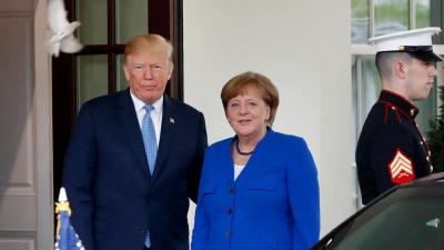 Trump: Έχω μία καταπληκτική σχέση με τη Γερμανίδα καγκελάριο Merkel!