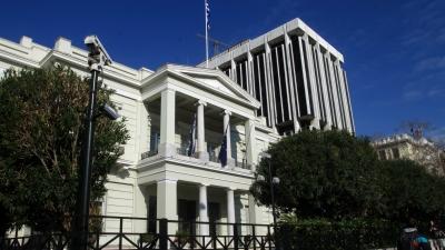 Παρενόχληση του γαλλικού πλοίου L'Atalante - Διάβημα διαμαρτυρίας από την ελληνική πρεσβεία στην Άγκυρα
