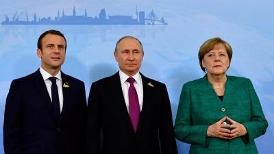 Κορωνοϊός: Πιθανή συνεργασία για τα εμβόλια συζήτησαν ο Macron και η Merkel με τον Putin