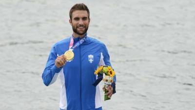 Χρυσός Ολυμπιονίκης ο Στέφανος Ντούσκος στην κωπηλασία! (video)