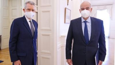 Δένδιας (ΥΠΕΞ): Συνάντηση με τον πρέσβη των ΗΠΑ  Pyatt, με ατζέντα Ανατολική Μεσόγειο και διμερείς σχέσεις