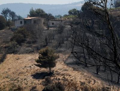 Πυρκαγιά στην ευρύτερη περιοχή των Γερανείων: Διάσπαρτες εστίες – Στο Αλεποχώρι κυβερνητικό κλιμάκιο