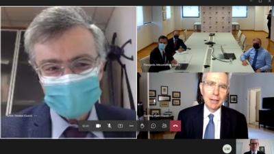 ΕΟΔΥ: Ενημέρωση του Αμερικανού πρέσβη G. Pyatt για την αντιμετώπιση της πανδημίας – Συνεργασία με το CDC
