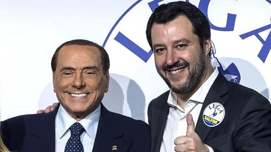 Ιταλία: Berlusconi και Salvini αναγγέλλουν συγχώνευση των κομμάτων τους