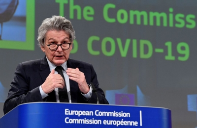 Breton (ΕΕ): Δυνατή έως τα μέσα Ιουλίου η ανοσία του ενήλικου πληθυσμού της ΕΕ
