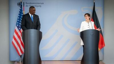 Aνοικτή η Γερμανία σε μορατόριουμ με τις ΗΠΑ για τον Nord Stream 2 - Συνάντηση Karrenbauer με Austin