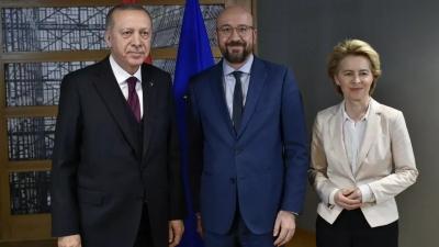 Στην Τουρκία Michel και von der Leyen (6/4) - Συνάντηση με Erdogan