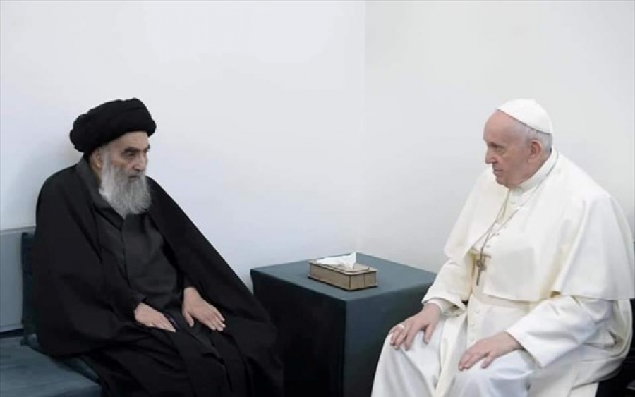 Ayatollah Sistani  σε Πάπα: Οι χριστιανοί του Ιράκ πρέπει να ζήσουν με ειρήνη και ασφάλεια