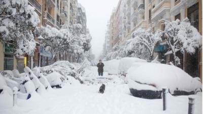 Ισπανία: Δύο νεκροί από την πρωτοφανή χιονόπτωση, την χειρότερη των τελευταίων 40 χρόνων
