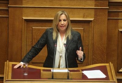 Γεννηματά: Πολιτικό πινγκ πονγκ Μητσοτάκη - Τσίπρα γιατί βολεύει