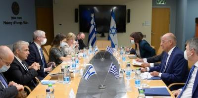 Συνάντηση Δένδια με ΥΠΕΞ Ισραήλ – Τι συζήτησαν οι δυο πλευρές στα Ιεροσόλυμα