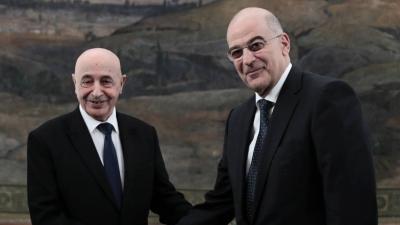 Δένδιας: Να φύγουν όλες οι ξένες δυνάμεις από τη Λιβύη – Saleh: Άκυρο το μνημόνιο με την Τουρκία