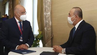 Cavusoglu (Τούρκος ΥΠΕΞ): Είμαι έτοιμος να συζητήσω όλα τα σημεία διαφωνίας με τον Δένδια