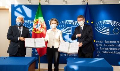 Υπογραφή της «κοινής δήλωσης» για τη Διάσκεψη για το Μέλλον της Ευρώπης