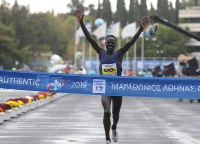 37ος Μαραθώνιος Αθήνας: Νικητής ο 42χρονος Κενυάτης Κόμεν