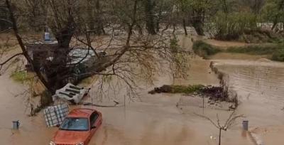 Εικόνες βιβλικής καταστροφής στη Βόρεια Εύβοια
