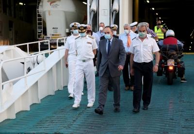 Πλακιωτάκης: Στο 85% η πληρότητα στα πλοία με καμπίνες, στο 80% χωρίς καμπίνες