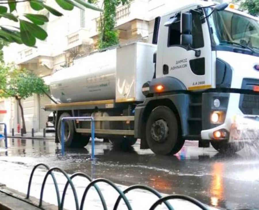 Δήμος Αθηναίων: Μεγάλη δράση καθαριότητας-απολύμανσης στο Εμπορικό Τρίγωνο
