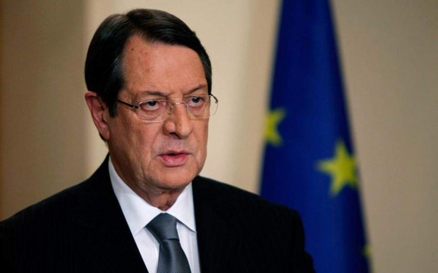 Αναστασιάδης: Λύση του Κυπριακού με βάση τα ψηφίσματα του ΟΗΕ, για μια δικοινοτική, διζωνική Ομοσπονδία