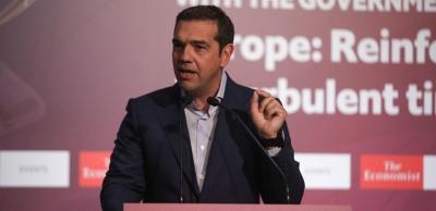 Τσίπρας στο συνέδριο του Economist: Tο παλιό απέτυχε, πλέον ανοίγει ο δρόμος για μια νέα κοινή λογική
