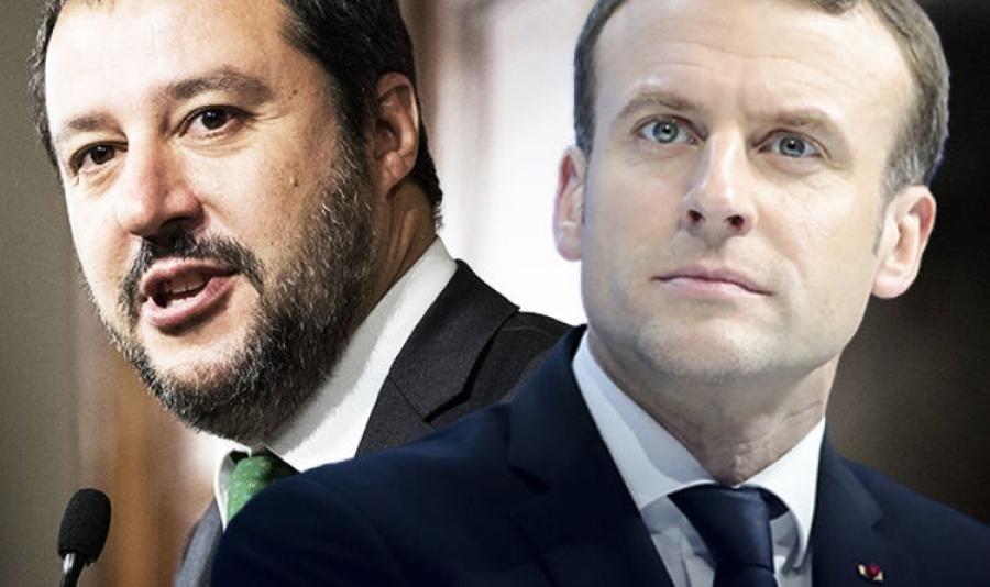 Σύγκρουση Salvini - Macron ενόψει Ευρωεκλογών - Ο Salvini υπέρ της Le Pen