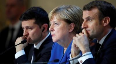 Τηλεδιάσκεψη Macron, Merkel και Zelensky για την ένταση στην Ουκρανία