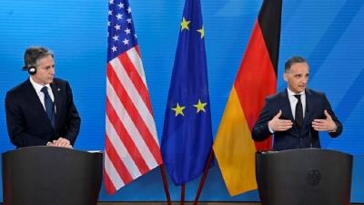 Blinken (ΗΠΑ) - Mass (Γερμανία): Παραμένουν οι διαφορές για τον Nord Stream 2 – Ζητούμενο η «αμοιβαία αποδεκτή» λύση