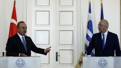 Η ανακοίνωση Δένδια - Cavusoglu για τη συνάντηση Μητσοτάκη με Erdogan