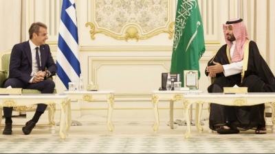 Συνάντηση Μητσοτάκη με διάδοχο Σαουδικής Αραβίας: Θεσμοθετείται Ανώτατο Συμβούλιο Συνεργασίας των δύο χωρών