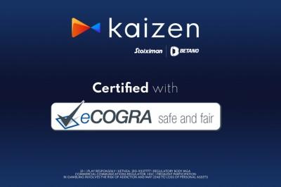 Με τη διεθνή πιστοποίηση eCOGRA Safe and Fair Seal διακρίνεται η Kaizen Gaming