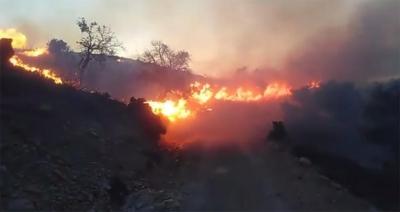 Λασίθι: Φωτιά εκδηλώθηκε στην Επισκοπή Ιεράπετρας - Iσχυροί άνεμοι