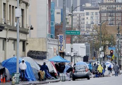 Ραγδαία αύξηση των αστέγων στο Λος Άντζελες