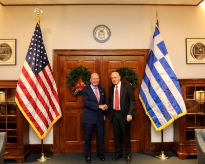 Συνάντηση ΥΠΟΙΚ Δ. Παπαδημητρίου με τον Υπουργό Εμπορίου των ΗΠΑ Wilbur Ross
